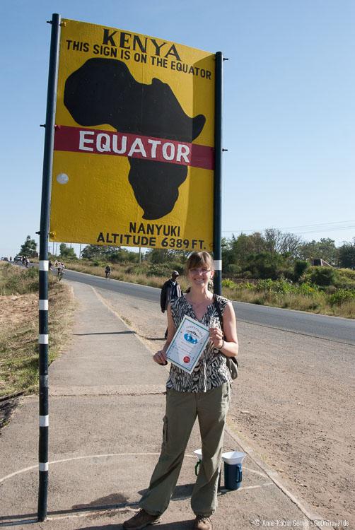 Äquatorüberquerung in Kenia