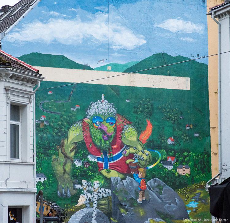 skandinavische Murals in Bergen