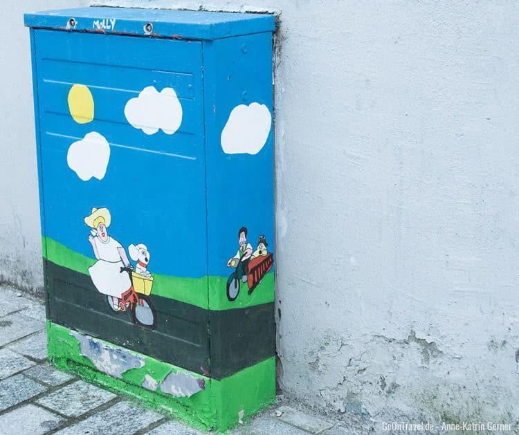 Street Art in der Sverre Gate Bergen