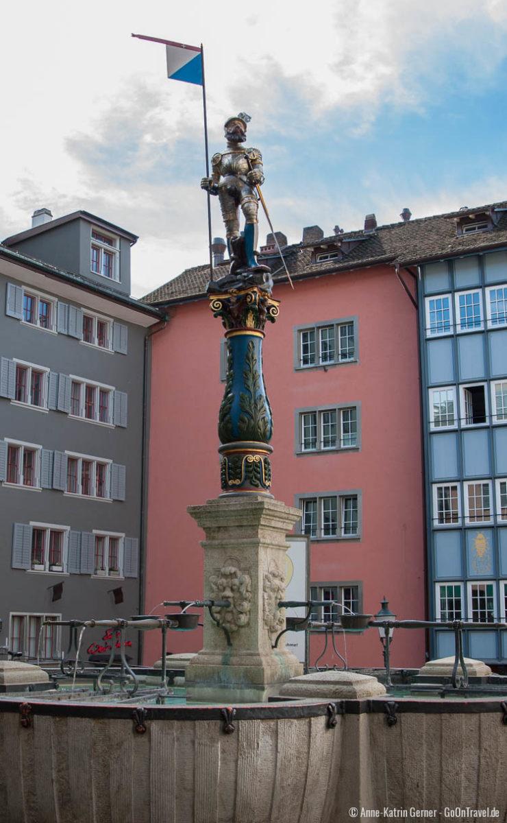 Renaissancebrunnen in der Stüssihofstatt