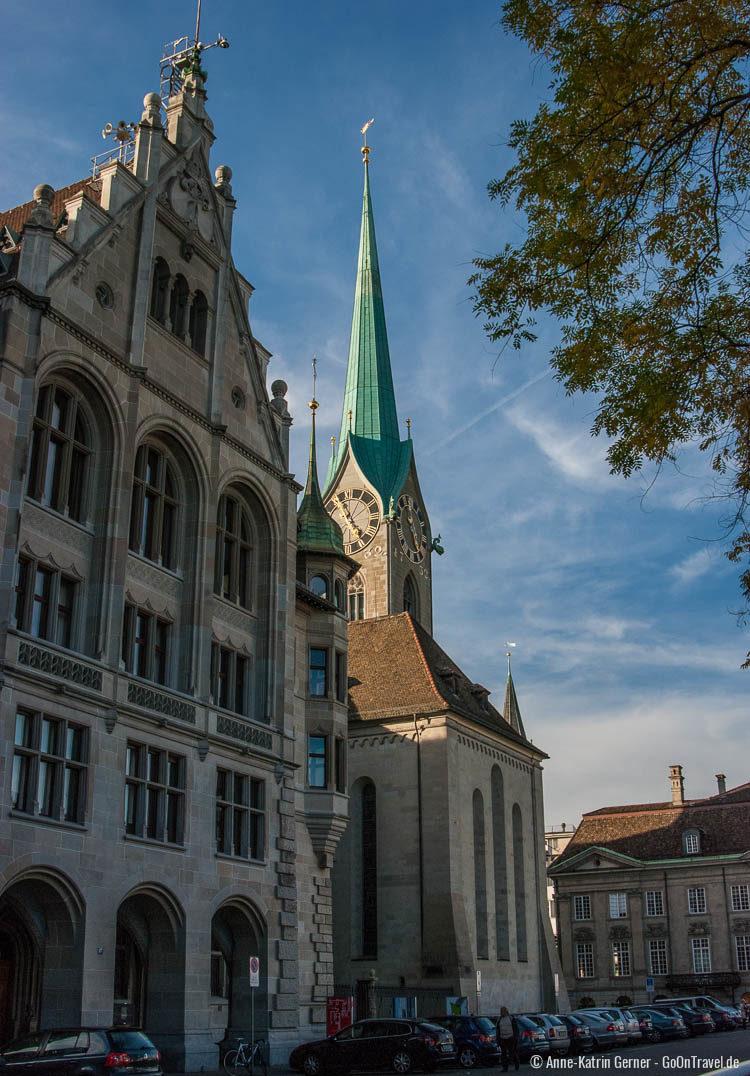 Fraumünster und Stadthaus