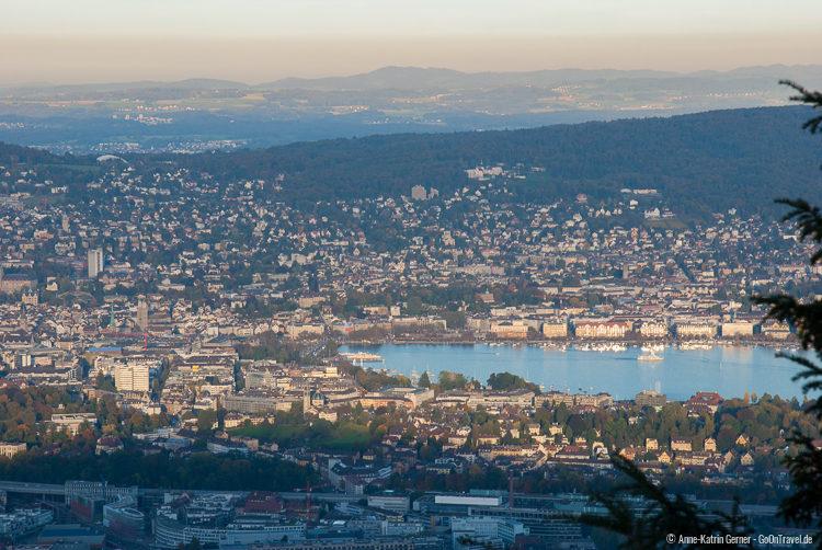 Blick auf Zürich vom Uetliberg