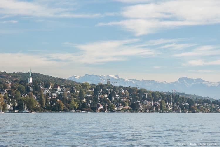 """die """"Goldküste"""" vom Zürichsee"""