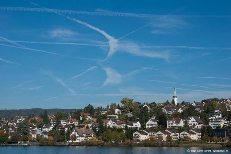 Blick auf die Nordseite des Zürichsees