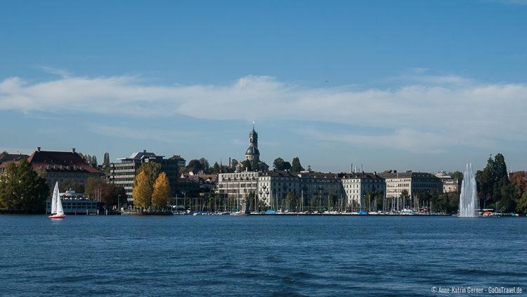Zürich vom Wasser aus