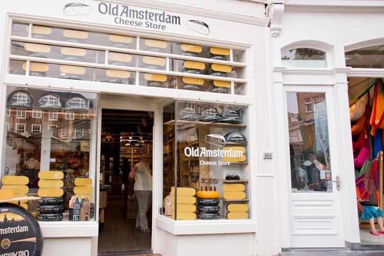 Käseladen von aussen in Amsterdam