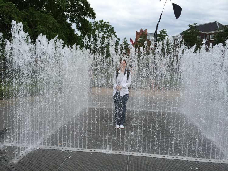 Springbrunnen beim Rijksmuseum