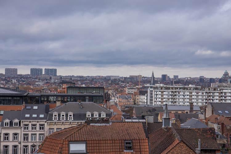 Blick auf Brüssel vom Justizpalast aus