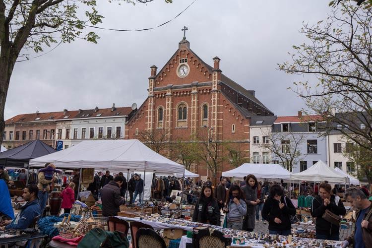 Der Flohmarkt in Brüssel