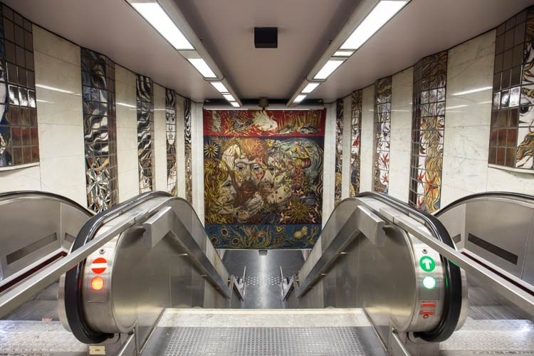 U-Bahn Station von Brüssel