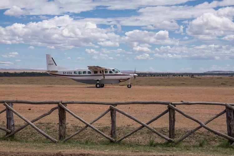 Mit dieser Cessna brachte uns unser Kapitän in die Maasai Mara und wieder zurück