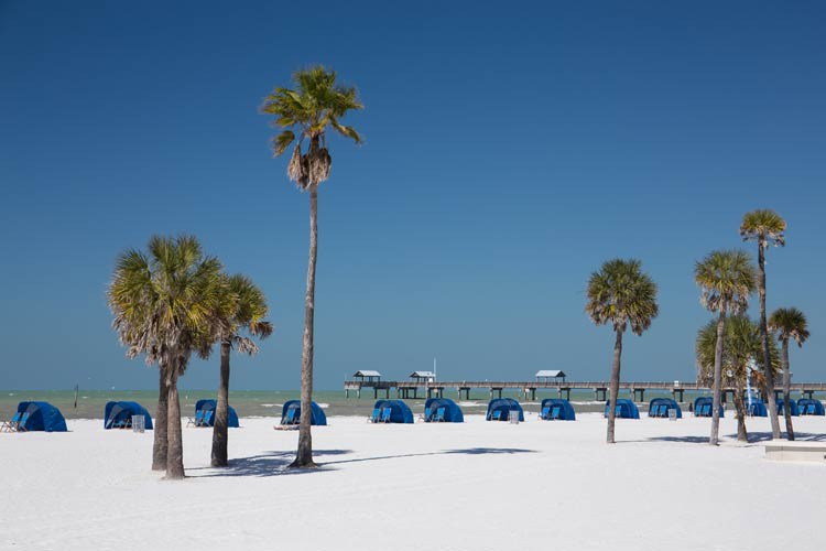 Am Strand von Clearwater Beach