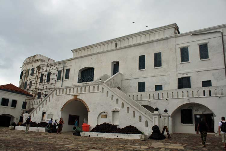Innenhof von Cape Coast Castle