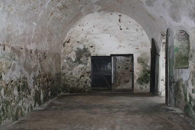 Sklavenraum in Elmina Castle