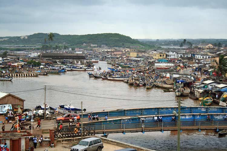 Blick auf die Stadt Elmina