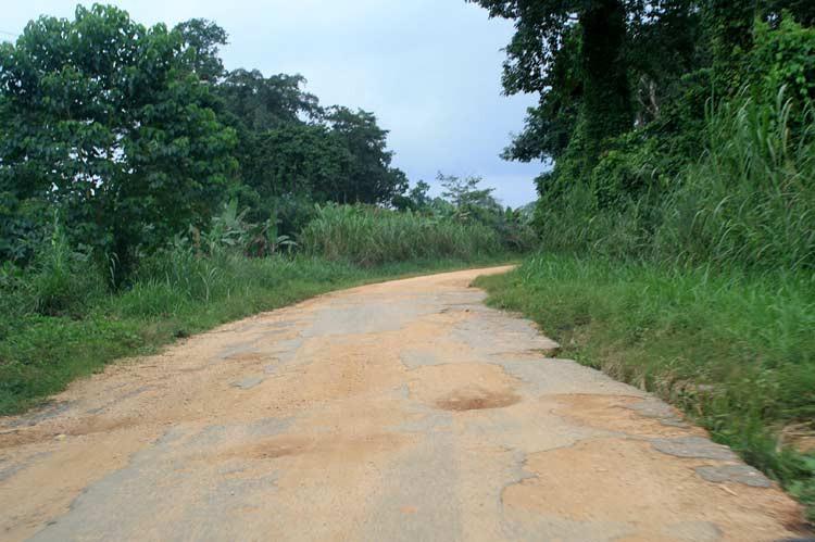Manchmal sehen Ghanas Straßen so aus