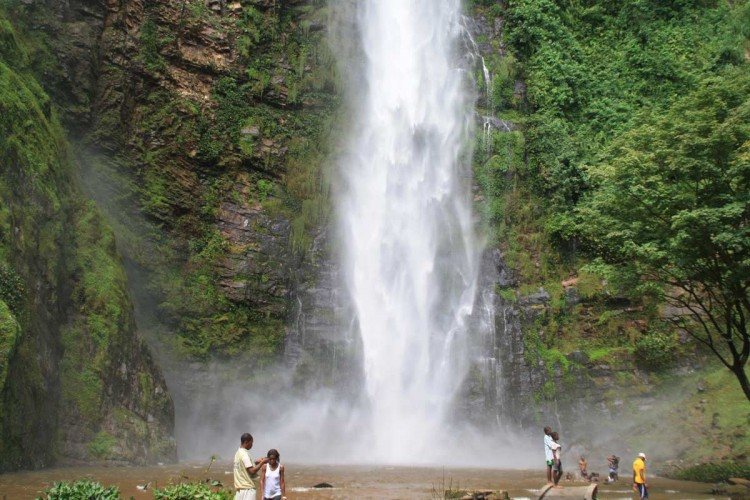 Die Wli Falls in Ghana