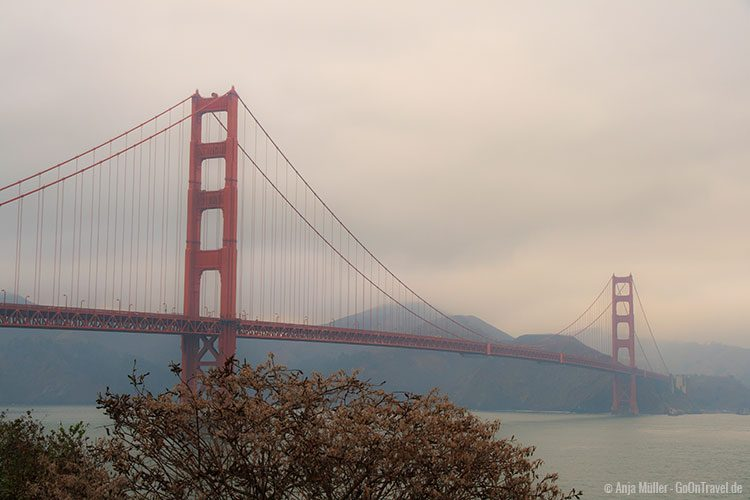 GoOnTravel.de: Die Golden Gate Bridge im Abendnebel