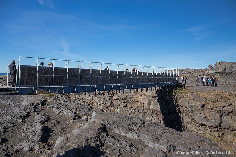 Die Brücke der Kontinente auf Island