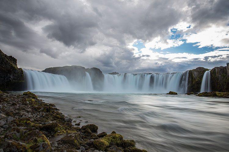 Der Goðafoss vom unteren Ende