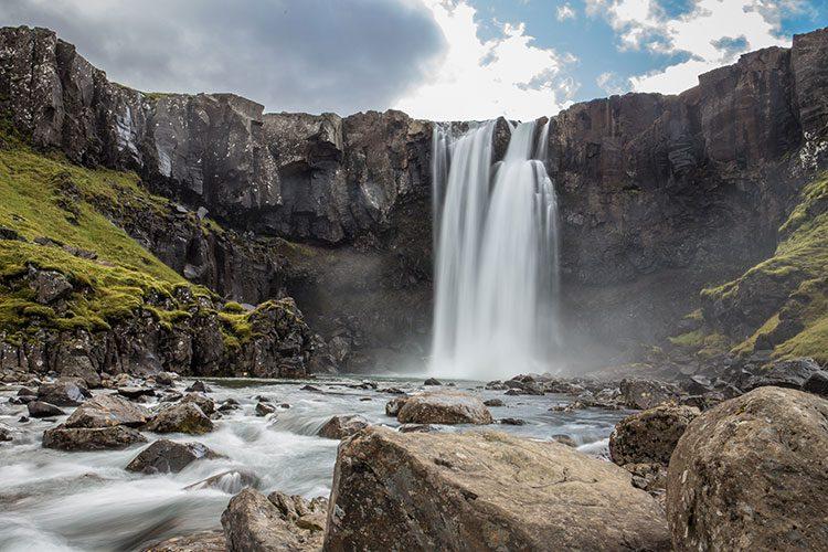 Der Gufufoss in den Ostfjorden auf Island