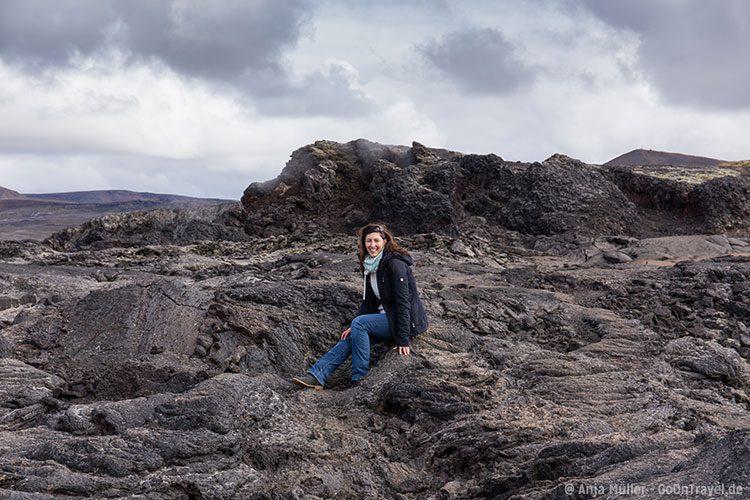 Spazieren in Lavafelder