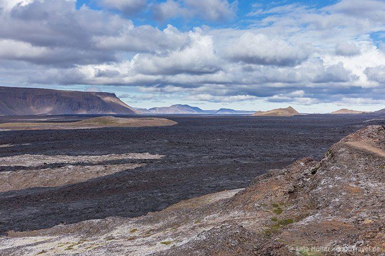 Blick auf die Lavafelder von Leirhnjukur
