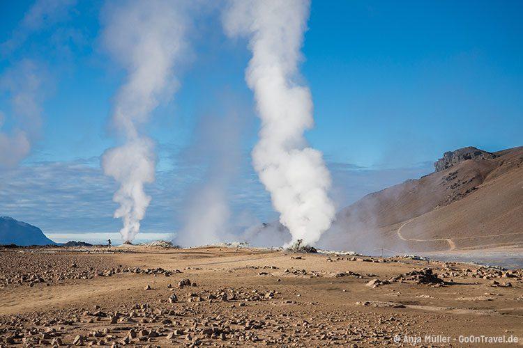 Das Solfatarengebiet Namafjall - es liegt Schwefel in der Luft.