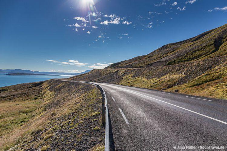 In den Nordfjorden von Island.