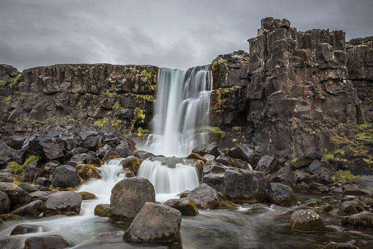 Der Öxararfoss in der Nähe von Þingvellir auf Island