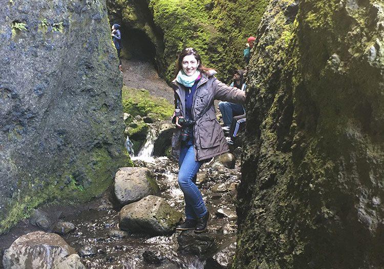 Direkt in der Raudfeldar-Schlucht auf die Halbinsel Snæfellsnes