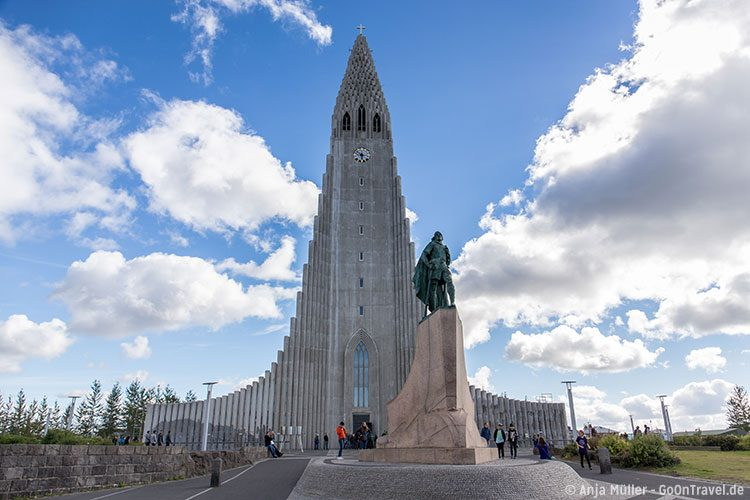 Die Hallgrímskirkja Kirche in Reykjavik