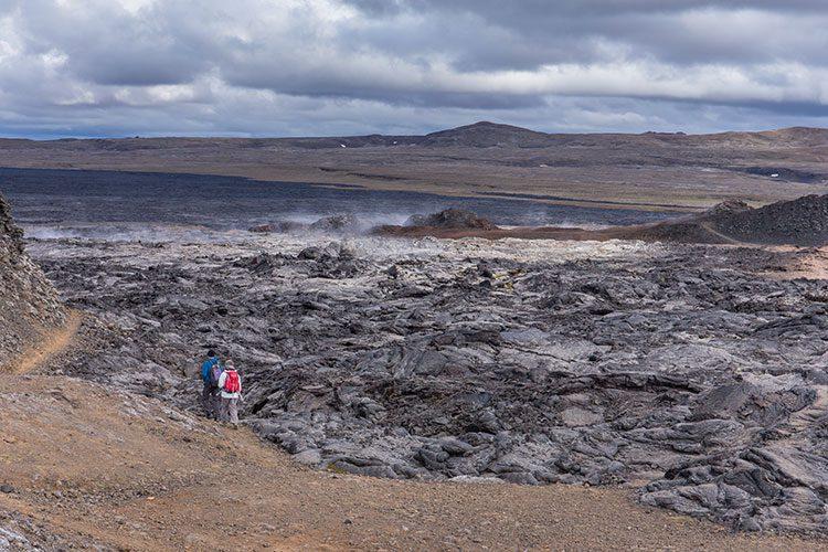 In den Lavafeldern von Leirhnjukur