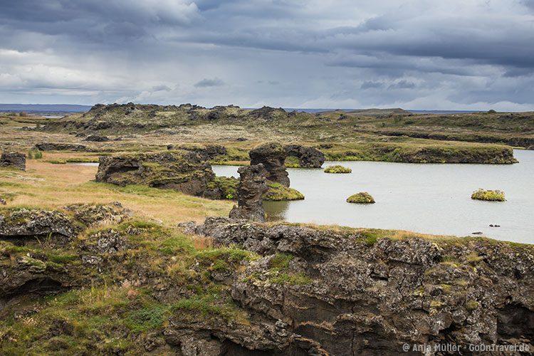 Der mystische See Myvatn im Norden von Island