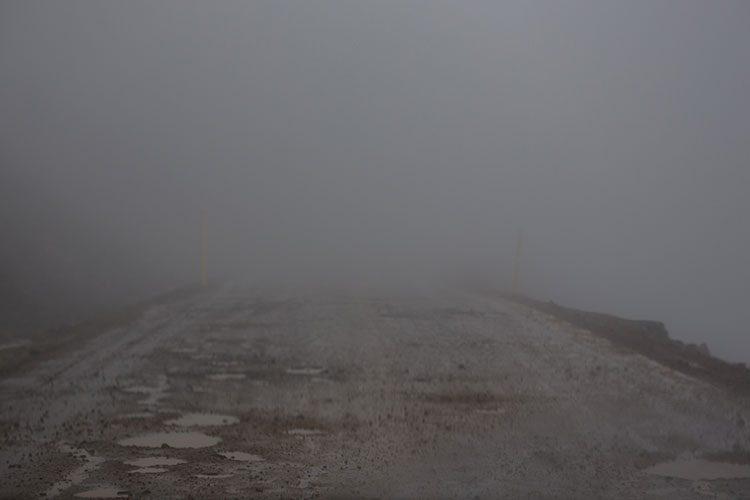 Wenig Sicht und schlechte Straßen, auch das gibt es auf Island