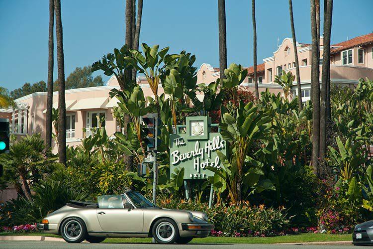Das bekannte Beverly Hills Hotel in der schon viele Stars und Sternchen genächtigt haben.