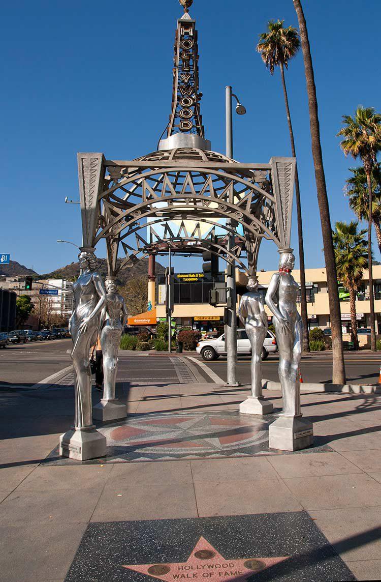 Beginn des Walk of Fame in Hollywood