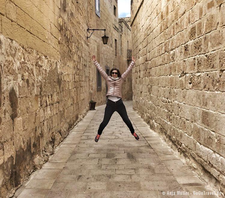In Mdina, die alte Hauptstadt von Malta