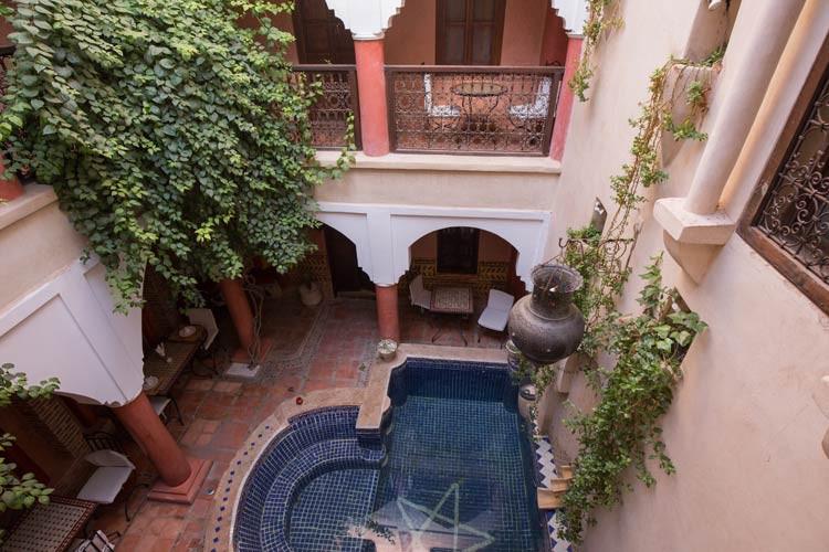 Der Innenhof vom Riad Le Plein Sud