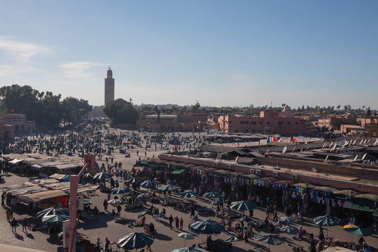 Blick auf den Djaama El Fna von oben