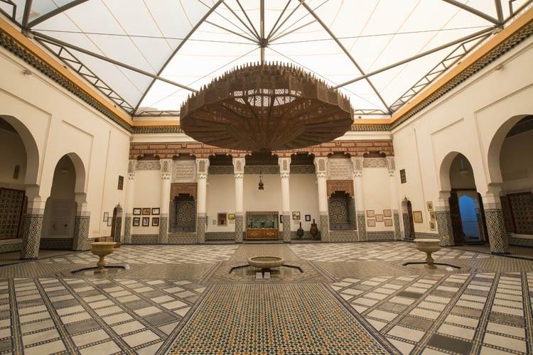 Lampe im Marrakesch Museum