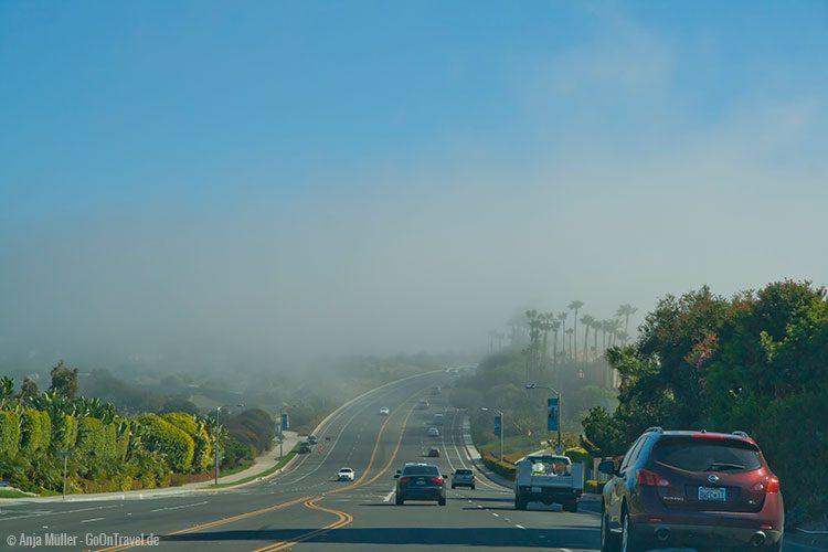 Nebelwände mit blauen Himmel gemischt