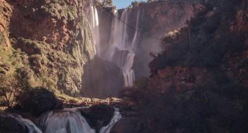 Die Ouzoud-Wasserfälle von Marokko