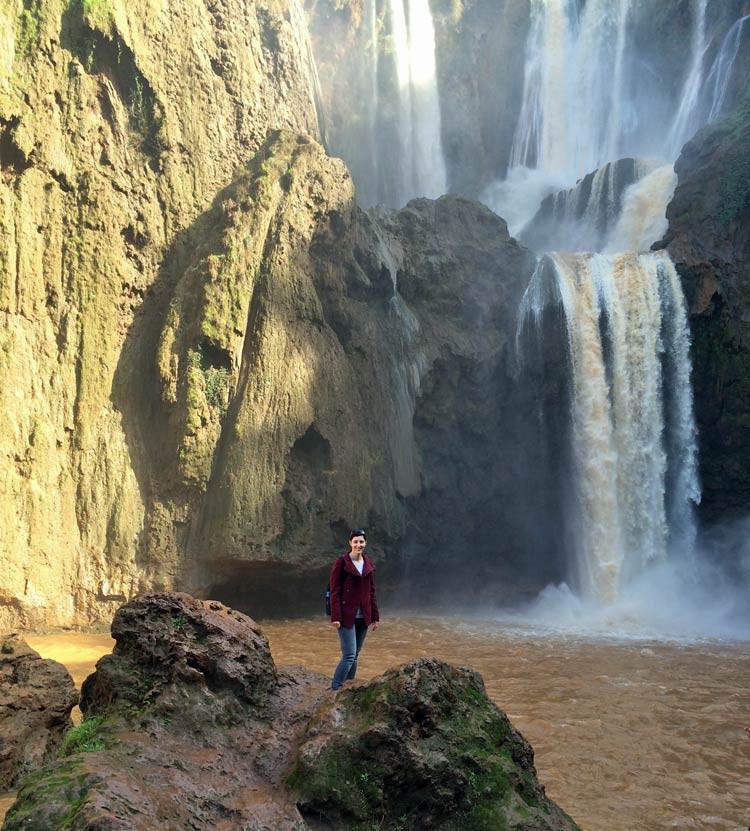 Ouzoud-Wasserfälle in Marokko