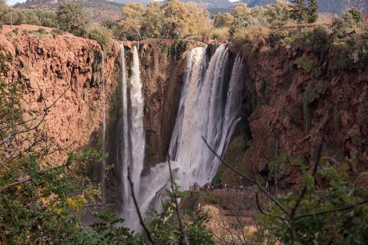 Panoramablick auf die Ouzoud-Wasserfälle