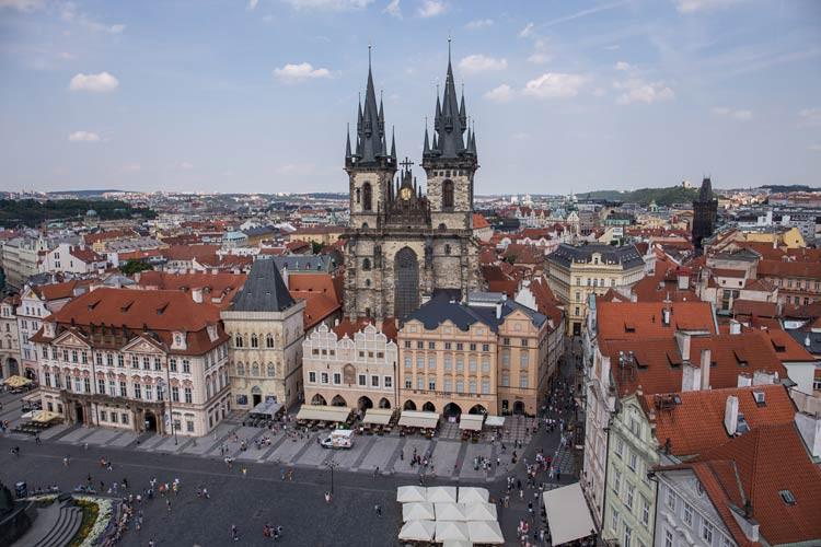 Blick vom Prager Rathaus