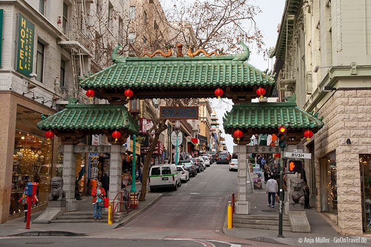 Stadttor nach Chinatown in San Francisco