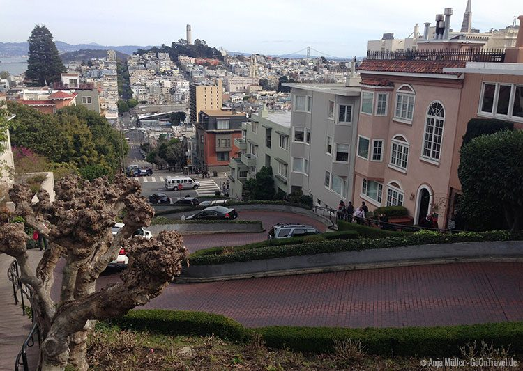 Die Lombard Street in San Francisco