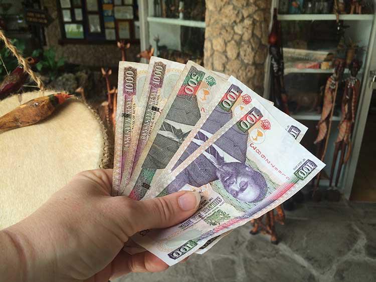 Shopping mit Kenia-Schilling