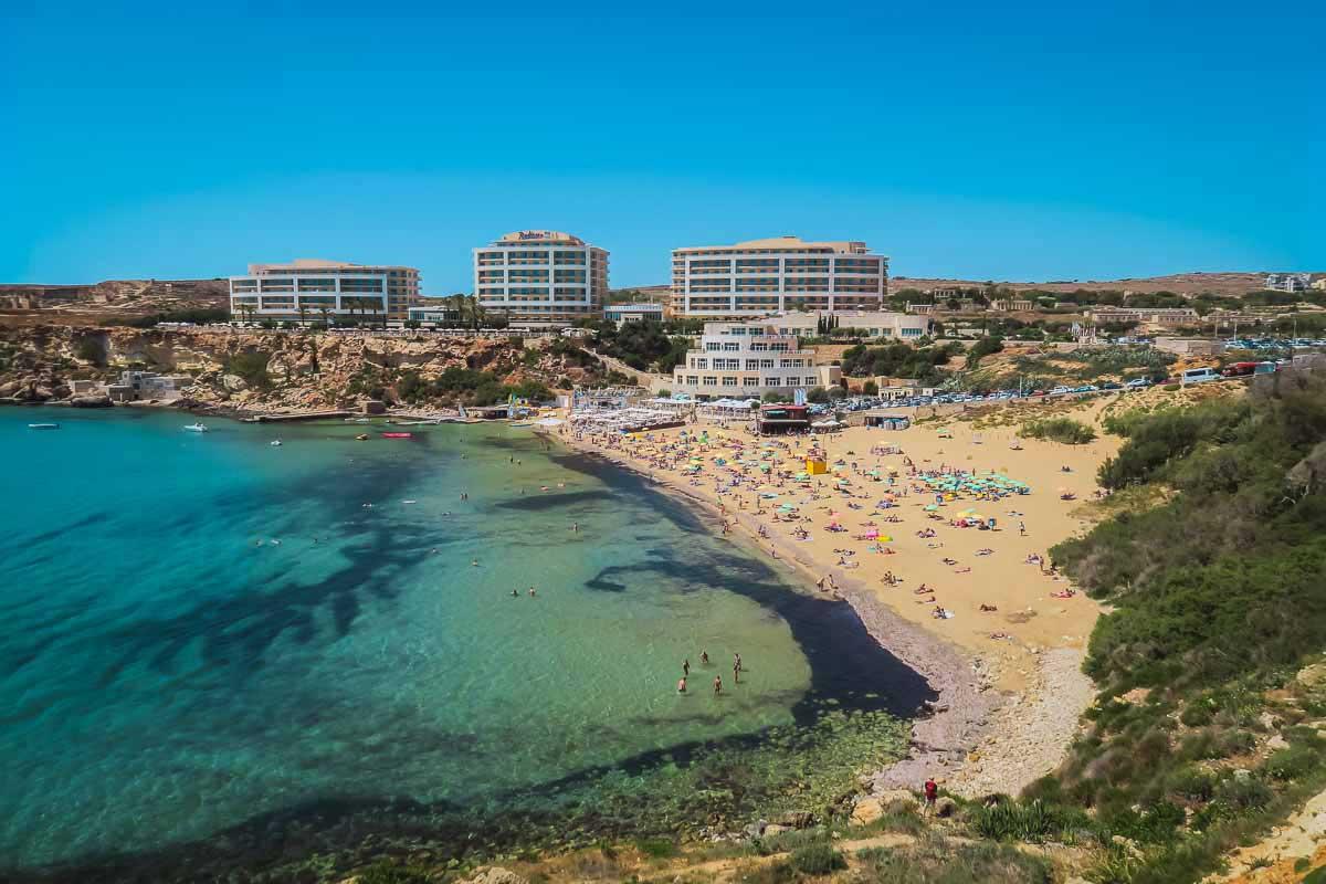 Golden Bay auf Malta